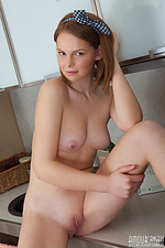 Cute girl gets naked